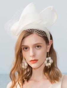 Image of Costume Carnevale Cappello da Donna 2020 Bianco Retrò Cappello i