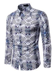 Image of Camicia da uomo. Camicia da lavoro a maniche lunghe da uomo