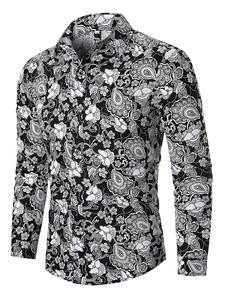 Image of Camicie da uomo Camicia casual da uomo con colletto rovesciato s