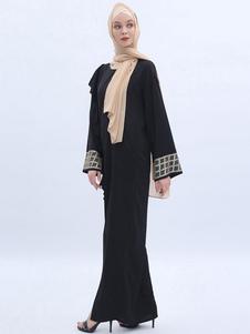 Image of Abito Abaya da donna Vestito arabo Abito lungo a maniche lunghe