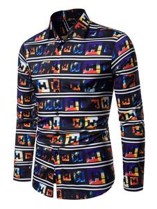Image of Camicie da uomo Colletto rovesciato Opera Camicia casual da uomo