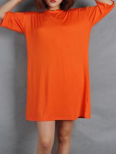 Image of T Shirt Abiti Oragnge Abito estivo rosso