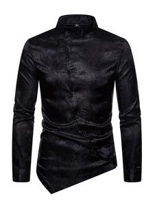 Image of Camicie da uomo Colletto alla coreana Camicia casual da uomo asi