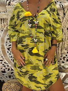 Image of T Shirt Abiti Camo Maniche corte Abito estivo oversize