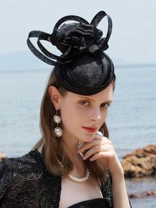 Image of Costume Carnevale Cappello da donna retrò cappello fiore strappy