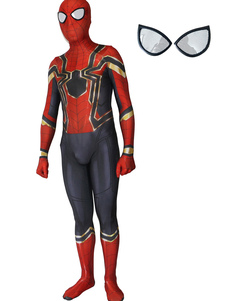 Image of Carnevale Spider-Man Cosplay Spider Man Red Film Lycra Spandex T
