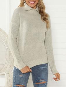 Image of Colletto rovesciato di qualità pullover da donna