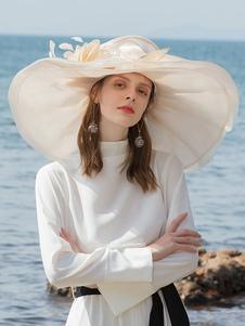 Image of Costume Carnevale Cappello retrò da donna a cappello in organza