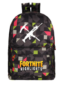 Image of Carnevale Zaini Fortnite Anime Borsa in tela verde erba