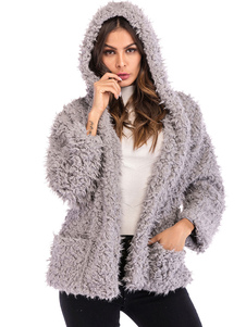 Image of Cappotto da donna Cappotto di lana casual a maniche lunghe con c