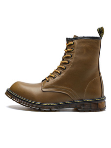 Image of Mens Tooling Boots Lace Up Round Toe Booties