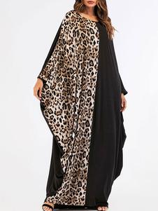 Image of Abbigliamento donna Abito Abaya Abbigliamento arabo Nero maniche