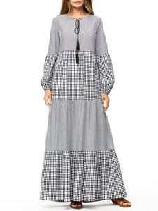 Image of Abbigliamento donna Abito Abaya Abbigliamento arabo Maniche lung