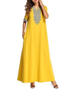 Image of Abbigliamento donna Abito caftano Abbigliamento arabo Abbigliame