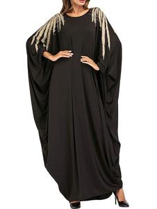 Image of Abbigliamento donna Abito caftano Abbigliamento arabo Stampa mus
