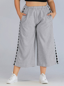 Image of Pantaloni taglie forti per donna Pantaloni in misto cotone grigi
