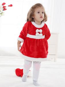 Image of Kigurumi Tutina Pigiama Natale Fiocco rosso Vestito da bambino