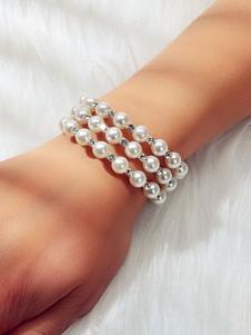 Image of Bracciali da donna Bracciali imitazione perla bianca perla