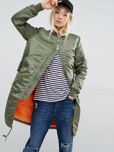 Image of Cappotto da donna Cappotto con cerniera Cappotto lungo con zip C