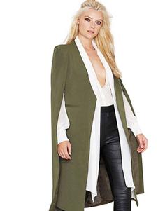 Image of Cappotto poncho verde smeraldo per donna