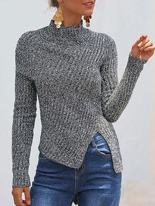 Image of Pullover per donna Maglioni acrilici trasparenti con maniche lun