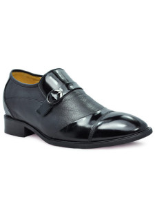 Ascenseur Shoes des hommes de la vache noire Cuir PU Sole formelle