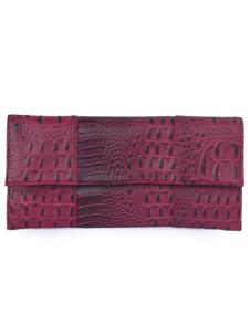 Elegant Horizontal Cover Pattern Rhinestone PU Crocodile Clutch Bag