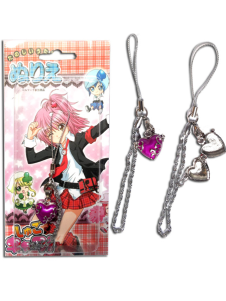 Shugo Chara Purple Alloy Anime Phone Strap