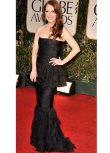 Black Tulle Strapless Sheath Evening Golden Globe Dress