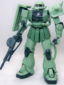Gundam0079 Green Zaku II Anime Modal Kit