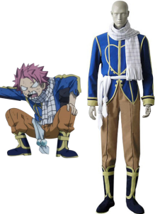 Blu Fairy Tail Natsu Dragneel Cosplay Costume