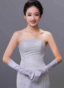 concise-white-satin-fingertips-wedding-gloves-for-brides