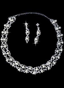 Silver Imitation Wedding Jewelry Set