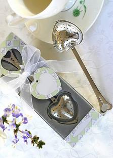 Silver Heart Shaped Tea Strainer Spoon