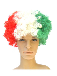 Italy Fans Afro Style Synthetic Party Wig
