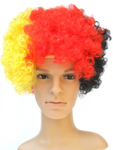 Germany Fans Afro Style Synthetic Party Wig