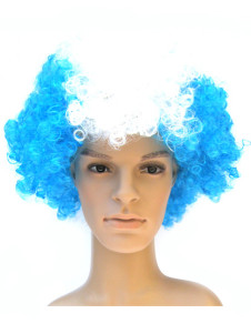 Argentina Fans Afro Style Synthetic Party Wig