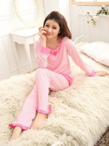 pink-piping-long-sleeves-cotton-maternity-sleepwear