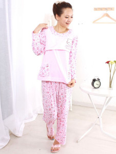 comfortable-printing-cotton-maternity-sleepwear