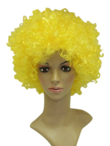 Afro Yellow 30cm Faux Short Full Wig