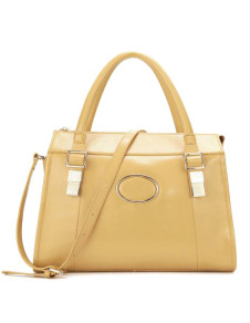Elegant Satchel Shape Cowhide Woman's Tote Bag