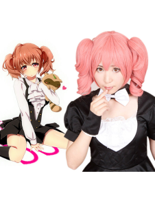 Image of Carino rosa Inu Boku Secret Service Roromiya garuta Cosplay Wig