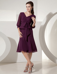 grace-grape-chiffon-v-neck-half-sleeve-bow-mother-of-the-bride-dress