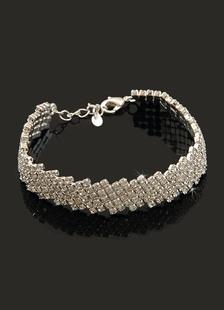 Luxury Rhinestones Alloy Bridal Wedding Bracelet