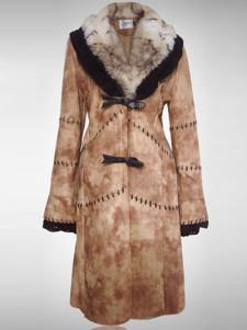 Luxury Fashion Fox Fur Front Button Faux Fur Womans Coat