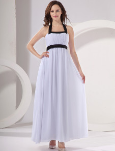 fashion-white-chiffon-black-sash-suspenders-womens-evening-dress