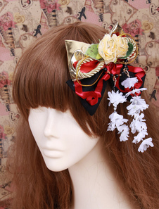 gold-bow-flower-decoration-cotton-lolita-hairpin