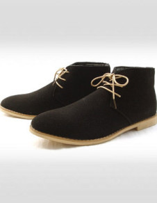 Milanoo UK  Vintage Suede Leather Lace Up Rubber Sole Men's Chukka Boots