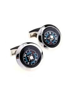 charming-compass-black-men-cufflinks