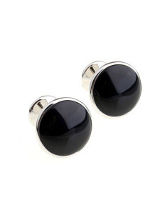 round-black-stone-mens-cufflinks